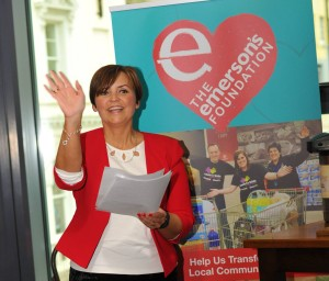Debise Watson at the launch of The Emerson's Foundation in Armagh